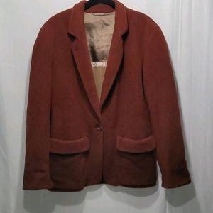 Emporio Armani Blazer Jacket Wool Blend V Neck